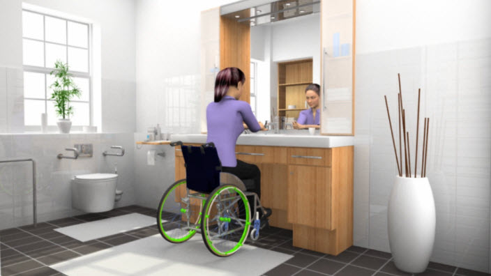 Sondageurinaire en fauteuil roulant: SpeediCath standard
